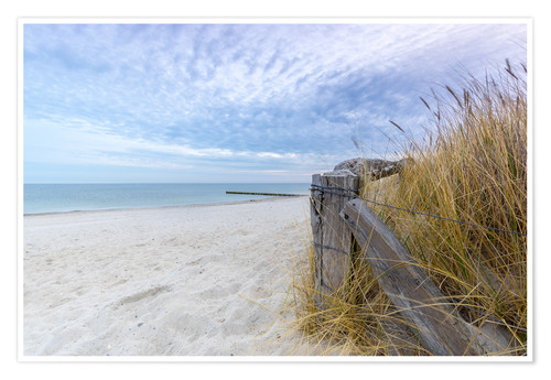 Premium-Poster Ostsee Strand Fehmarn