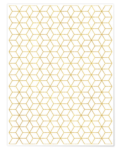 Poster Gold Geometric