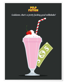 Premium-Poster  Milkshake, Pulp Fiction (Englisch) - Golden Planet Prints