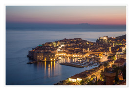 Poster  Dubrovnik bei Sonnenuntergang - Mike Clegg Photography
