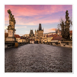 Poster  Charles Bridge, Prague at sunrise - Mike Clegg Photography