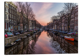 Alubild  Amsterdam Canals bei Sonnenaufgang - Mike Clegg Photography