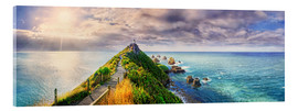 Acrylglasbild  Nugget Point Panorama Neuseeland - Michael Rucker