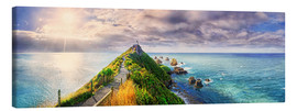 Leinwandbild  Nugget Point Panorama Neuseeland - Michael Rucker