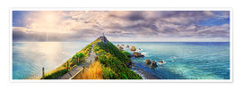 Premium-Poster Nugget Point Panorama Neuseeland