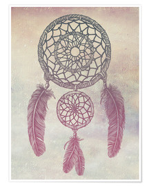 Premium-Poster Dream Catcher Rose