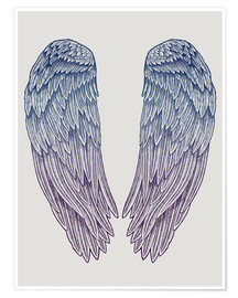 Premium-Poster Angel Wings