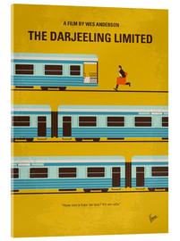 Acrylglas  No800 My The Darjeeling Limited minimal movie poster - chungkong