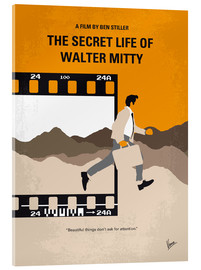 Acrylglas  No806 My The Secret Life of Walter Mitty minimal movie poster - chungkong