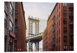 Hartschaumbild  Manhattan Bridge in New York - Felix Pergande