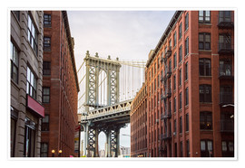Premium-Poster  Manhattan Bridge in New York - Felix Pergande