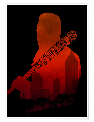 Premium-Poster The Walking Dead - Negan and his beautiful Lucille