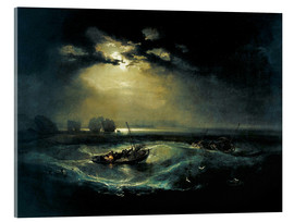 Acrylglasbild  Fischer auf See - Joseph Mallord William Turner