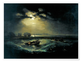 Poster  Fischer auf See - Joseph Mallord William Turner