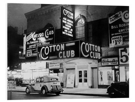 Hartschaumbild  Cotton Club in Harlem, New York