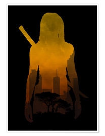 Premium-Poster The Walking Dead - Michonne
