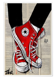 Poster  red - Loui Jover