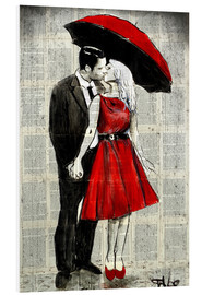 Hartschaumbild  she wore red - Loui Jover