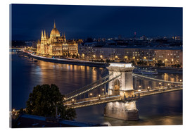 Acrylglasbild  Budapest at night - Elena Papadopolis