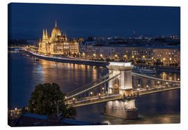 Leinwandbild  Budapest at night - Elena Papadopolis