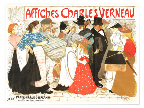 Premium-Poster Affiches Charles Verneau