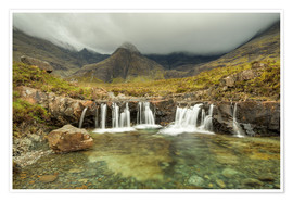 Premium-Poster Fairy Pools, Isle of Skye, Schottland