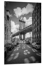 Hartschaumbild  NEW YORK CITY Manhattan Bridge - Melanie Viola