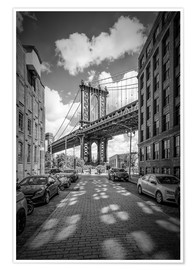 Premium-Poster NEW YORK CITY Manhattan Bridge