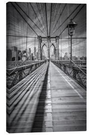 Leinwandbild  NEW YORK CITY Brooklyn Bridge - Melanie Viola