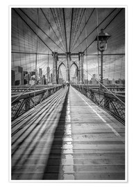 Premium-Poster  NEW YORK CITY Brooklyn Bridge - Melanie Viola