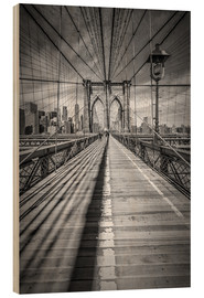 Holzbild  NEW YORK CITY Brooklyn Bridge - Melanie Viola
