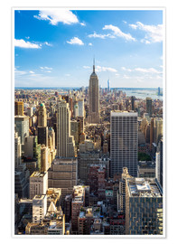 Poster  Manhattan skyline in New York City, USA - Jan Christopher Becke