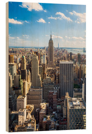 Holzbild  Manhattan skyline in New York City, USA - Jan Christopher Becke