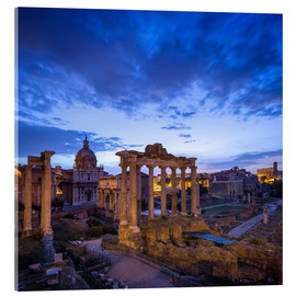 Acrylglasbild  Forum Romanum in Rom, Italien - Jan Christopher Becke