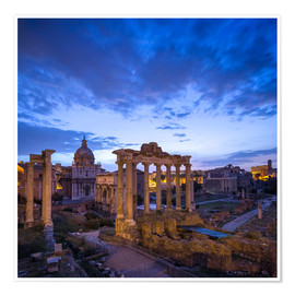 Premium-Poster  Forum Romanum in Rom, Italien - Jan Christopher Becke