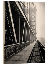 Holzbild  Manhattan Bridge 1936 - Christian Müringer