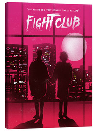 Leinwandbild  Fight club movie scene art - 2ToastDesign