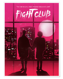 Premium-Poster  Fight Club Filmszene - 2ToastDesign