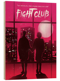 Holzbild  Fight Club Filmszene - 2ToastDesign