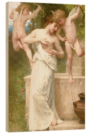 Holzbild  Blessures d'amour - William Adolphe Bouguereau