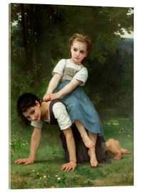 Acrylglas  Huckepack - William Adolphe Bouguereau