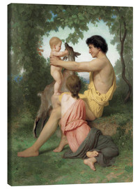 Leinwandbild  Idylle: antike Famille - William Adolphe Bouguereau