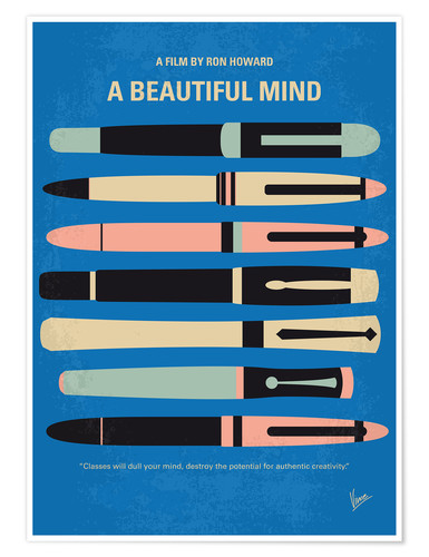 Poster No809 My A Beautiful Mind minimal movie poster