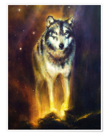 Premium-Poster  Kosmischer Wolf - Kidz Collection