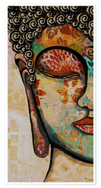 Premium-Poster  Buddha -Be happy - Christine Ganz
