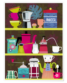 Poster Coffeelovers shelf