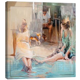 Leinwandbild  Am Pool - Johnny Morant
