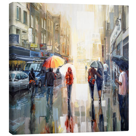 Leinwandbild  Brick Lane im Regen - Johnny Morant