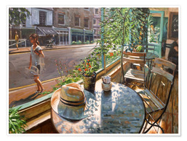 Premium-Poster  Greenwich Cafe - Johnny Morant