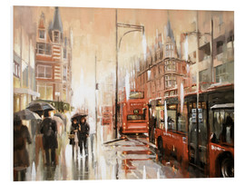 Hartschaumbild  Oxford Street im Regen - Johnny Morant